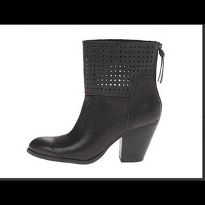 Nine West Hippy Chic Leather Ankle Boots
